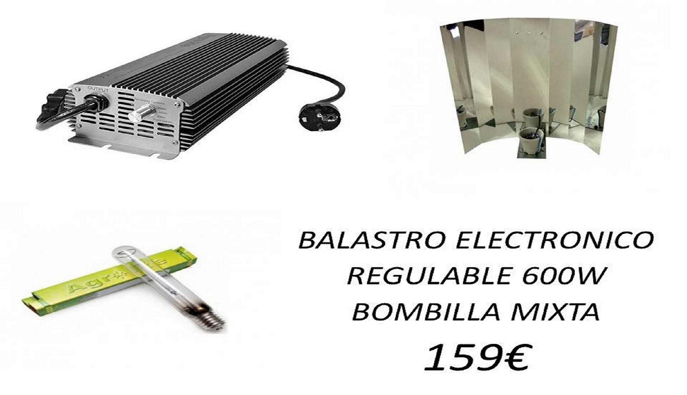 KIT ELECTRONICO AGROLITE 600W